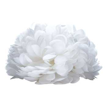 White 21 Layer Ball Mum Head